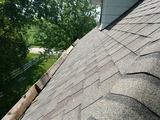 Shingle Roof Close Up -