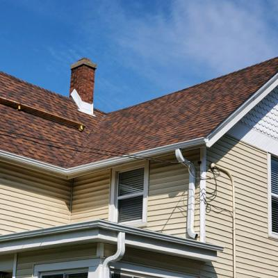 Red and Brown Shingle Roof