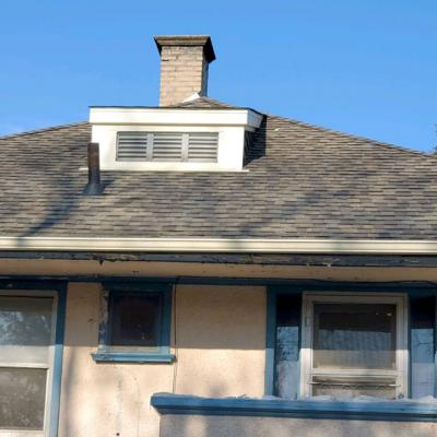 Shingle Roof with Chimney